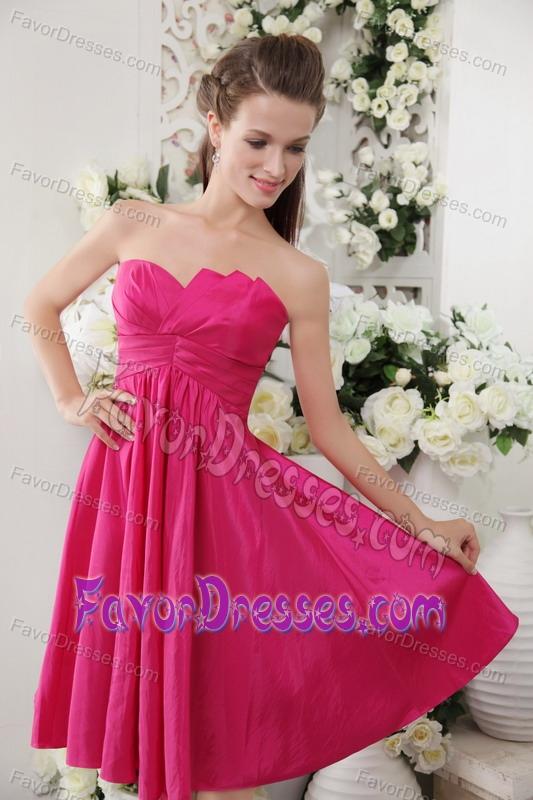 Inexpensive Taffeta Strapless Dama Dresses For Quinceanera
