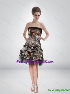 Artistic 2015 Short Strapless Camo Prom Dresses