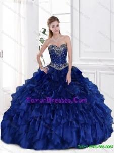 Elegant Royal Blue Sweetheart Quinceanera Dresses for 2016