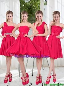 Romantic A Line Bowknot Prom Dresses in Chiffon