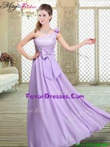 2016 Popular Spring High Neck Lace Lavender Bridesmaid Dresses