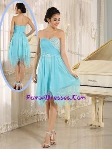 2016 Unique Asymmetrical Sweetheart Beading Short Prom Dresses