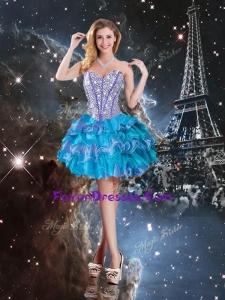 2016 Hot Sale Sweetheart Mini-length Bridesmaid Dress in Multi Color