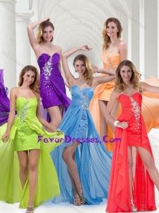 Elegant Empire Sweetheart Long Bridesmaid Dress in Chiffon