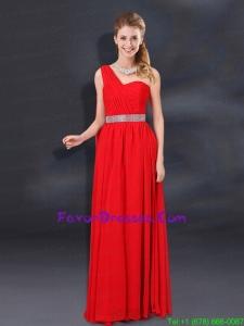 One Shoulder Empire Sequins 2015 Beautiful Prom Dresses