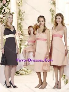 Exclusive DeepV Neck Belt Bridesmaid Dress in Black