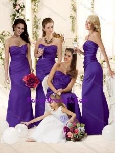 Fashionable Mermaid Floor-length Bridesmaid Dress in Purple