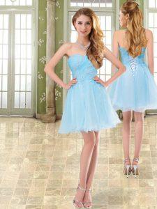 Stylish Sleeveless Beading Lace Up Prom Homecoming Dress