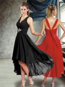 Black Criss Cross Damas Dress Belt Sleeveless Ankle Length