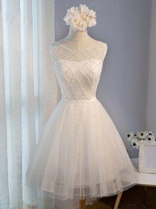 Sleeveless Beading Lace Up Homecoming Dress