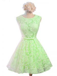 Free and Easy Sleeveless Belt Lace Up Damas Dress