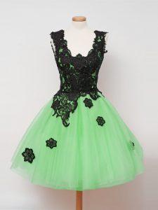Smart Lace Bridesmaids Dress Zipper Sleeveless Knee Length