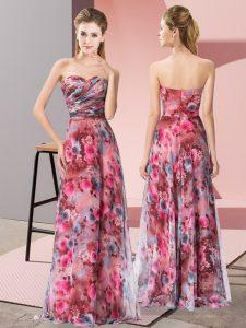 Fashion Multi-color Sweetheart Zipper Pattern Prom Party Dress Sleeveless