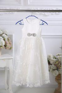 Fine White Sleeveless Tulle Zipper Flower Girl Dresses for Wedding Party