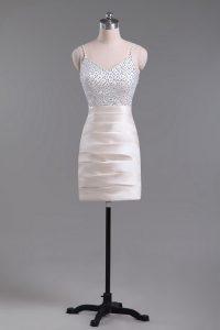 Sleeveless Beading Side Zipper Prom Gown