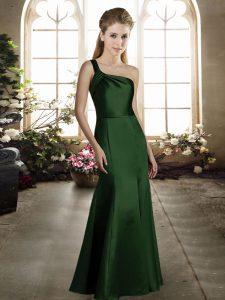Sleeveless Ruching Zipper Bridesmaid Gown