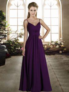 Designer Sleeveless Ruching Zipper Wedding Guest Dresses