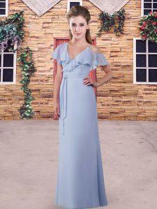 Glittering Short Sleeves Ruching Zipper Vestidos de Damas