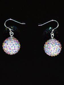 Popular Multi-color Round Rhinestone Earrings