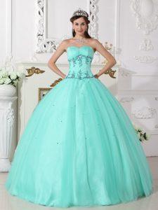 Elegant Green Ball Gown Sweetheart Beaded Quinceanera Dress
