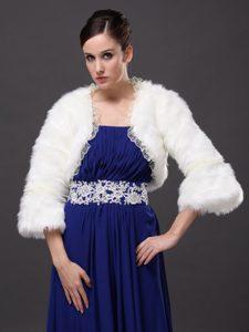 Lace Open Front White Stylish Jacket