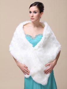 Faux Fur Special Occasion / Wedding Shawl On Sale