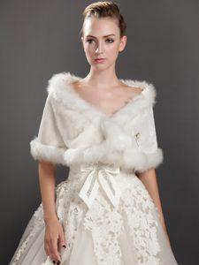 Modest Faux Fur V-neck Wrap / Shawl