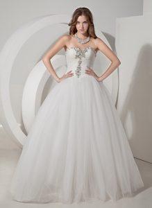 Best Beaded Simple Sweetheart Wedding Dresses in Taffeta and Organza