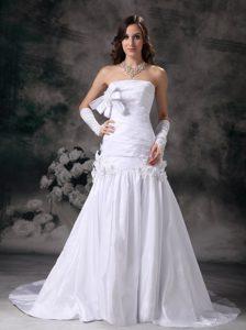 Strapless Court Train Taffeta Fabulous Bridal Dresses for Summer Wedding
