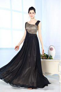 Custom Design Sleeveless Beading Side Zipper Prom Dress