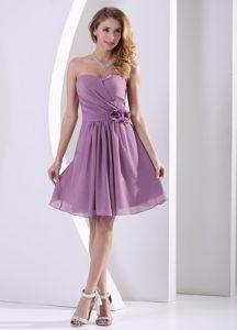 New Customize Sweetheart Ruched Chiffon Bridesmaid Dress in Dark Purple