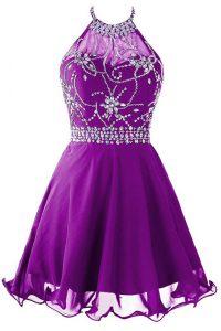 Artistic Halter Top Sleeveless Beading Zipper Prom Evening Gown