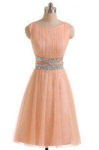 Best Selling Scoop Sleeveless Beading Zipper Prom Dress