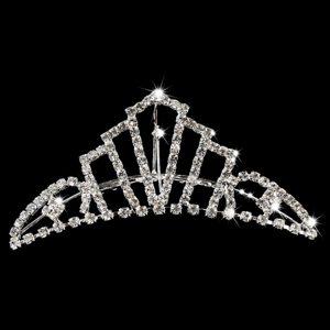Fashionable Tiara With Rhinestone Adorned