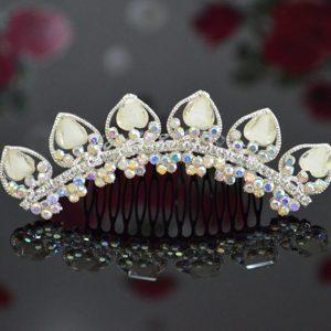 Custom Made Tiara With Beaded and Rhinestones Decorate