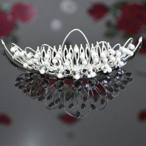 Imitation Pearls Decorate Beautiful Tiara
