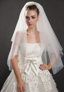 Graceful Two-tier Beautiful Organza Bridal Veil
