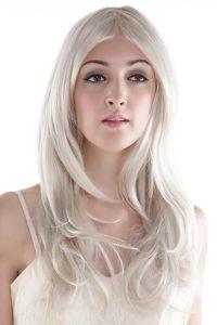 Hot Long Gray Wavy Synthetic Party Wig
