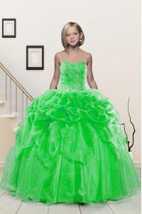 Sweetheart Neckline Beading and Pick Ups Glitz Pageant Dress Sleeveless Lace Up